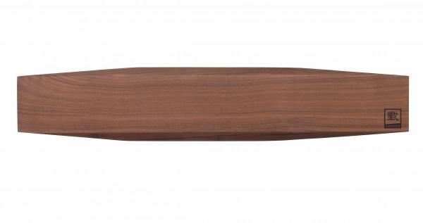 Zayiko hochwertige Messerleiste Messerbrett aus massivem Walnussholz magnetisch für 8 bis 9 Messer