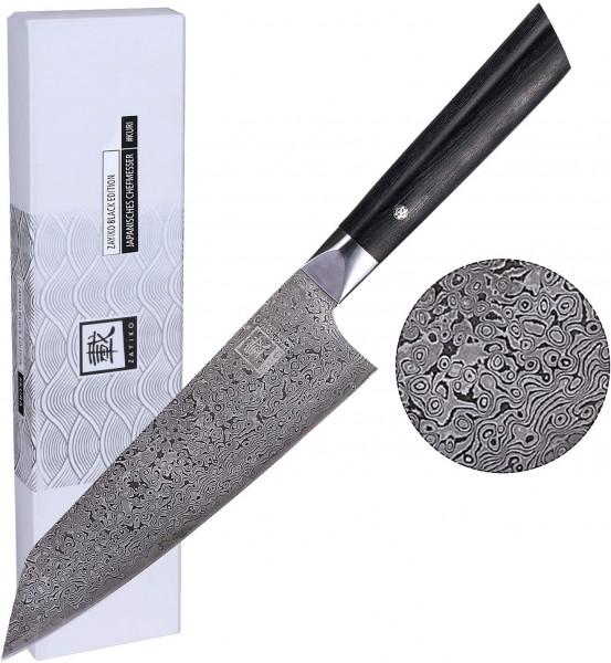 Japanisches Chefmesser | ZAYIKO - DAMASTMESSER | Black Edition